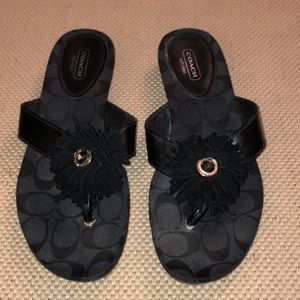 Coach black Suki sandals